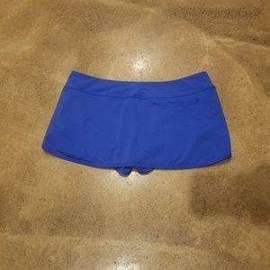 Athleta Swim Skirt Skort Blue Medium